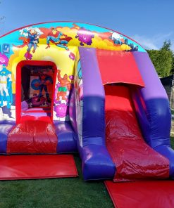 Superhero's Bouncy Castle with Front Slide